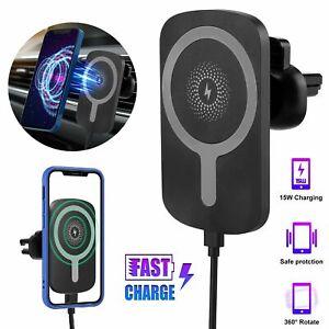 15W Kabellos Magnet Auto Ladegerät Halter Schnell Ladestation für iPhone 12 Pro