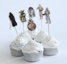 NEW Star Wars Theme Character Cupcake Toppers x 24 - For Parties