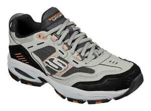 SKECHERS Men's Air Cooled Memory Foam Athletic Shoes, Medium and Extra Wide 3E