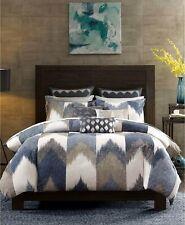 INK+IVY FULL/QUEEN Comforter Alpine Chevron Stripe Reversible NAVY A02101