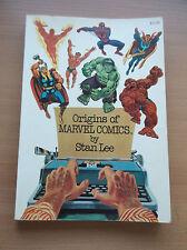 FIRESIDE: STAN LEE'S ORIGINS OF MARVEL COMICS, 1974, SC, 1ST PRINT, VF/NM!!!
