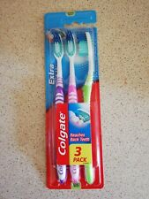 Colgate Extra Clean Toothbrushes, Purple, Pink & Green, Medium