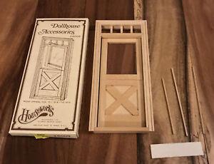VTG 1980 Houseworks Wooden Dutch Door Dollhouse Miniature  #6009  1/12 Scale NIP