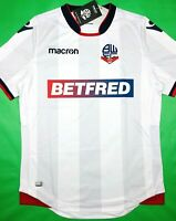 NWT BOLTON WANDERERS 2018/19 (M,L) Home Macron Soccer Jersey Football Shirt BWFC
