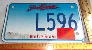 2016 S Dakota motorcycle license plate vintage collectible biker garage SD tag
