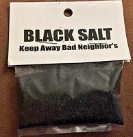 Black Salt 1 oz Witchcraft   Wicca Packet Keep Bad Energy Away