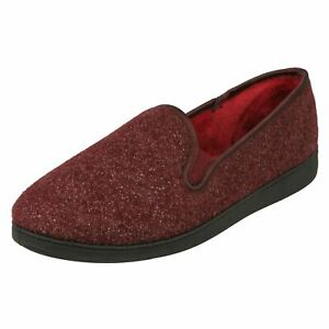 MARSHA BELLE LADIES CLARKS SLIP ON WARM INDOOR COSY HOUSE SLIPPERS SHOES SIZE