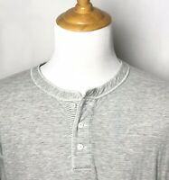 Billy Reid Large Shirt Henley L/S Casual Tee T-Shirt Heathered Gray Super Soft