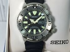 SEIKO SKX779 BLACK MONSTER 200M Water Resistant AUTOMATIC Day Date Dive Watch
