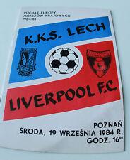 Programme for collectors EC Lech Poznan Liverpool FC 1984 Poland England