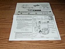 Vintage TECUMSEH  VINTAGE MINIBIKE GO KART ENGINE  MANUAL 8 PAGES HM80 HM90