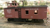 Roundhouse MDC HO Old Time Blind End Caboose, NYC&HRRR, Upgraded, Exc.