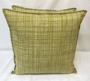 1 CUSHION COVER IN ORLA KIELY SCRIBBLE OLIVE FABRIC, FABRIC BOTH SIDES