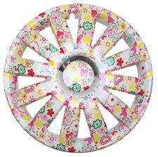 "4x16"" Wheel trims covers fit Ford Transit Custom 16"" uniqe flowers pattern pink"