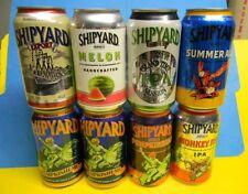 """1"" Craft Shipyard Pumpkin Watermelon Beer Can Nautical Sailboat Portland Me."