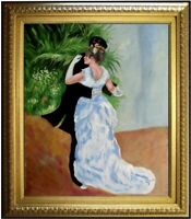 Framed Pierre Renoir Dance in the City Repro, Hand Painted Oil Painting 20x24in