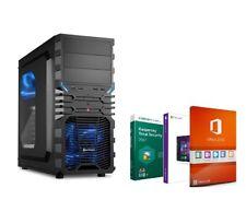 BÜRO & OFFICE PC COMPUTER QUAD 4x 3,40GHz 8GB DDR4 RAM 2000GB HDD Windows 10 12