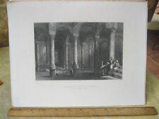 Vintage Print,CISTERN BIN BEBER DIREG,Bosphorus+Danube,Bartlett,19th Cent