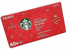 Starbucks Holiday Blend Coffee K-Cups - 60 Count