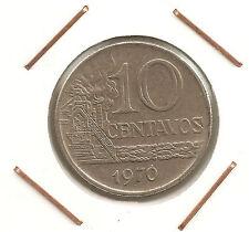 Brazil: 10 Centavos 1970 XF
