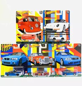 Hot Wheels Car Culture Deutschland Design Complete Set 1-5