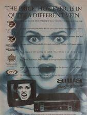Aiwa Electricals Vintage Advertising Original Magazine Ads Power For Pleasure