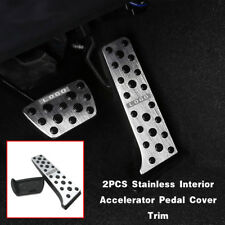 For Toyota Camry 2018 2019 2PCS Stainless Interior Accelerator Pedal Cover Trim