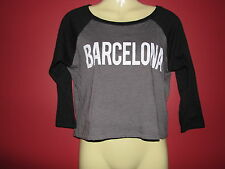 Corner Shop Women's BARCELONA Cropped Top - Juniors Size Large - NWT