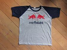 NEW RED BULL- THAI T-Shirt from THAILAND XL-size gray/dark blue arms 100% cutton