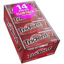 Trident Cinnamon Sugar Free Chewing Gum 14/18 ct Packs 252 Pieces