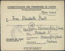 POW Camp 148 St Étienne France 1946 German Prisoner War Kriegsgefangenenpost 47
