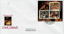 Cook Islands 2013 FDC Christmas Paintings 3v M/S Cover Art Aertsen Lotto