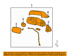 GM OEM-Exhaust System-Muffler Tail Pipe 84308120