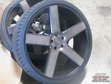 "26"" inch Dub Wheels Baller Black Concave Rims TPMS Tires Silverado GMC Avalanche"