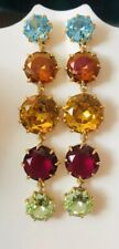 With J.Crew Bag! Multi Color J.Crew Crystal Drop Earrings! New$59.50 Nwt