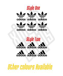 6 x Adidas Mini Logo vinyl sticker decal phone car (window optional)