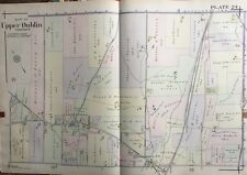 1916 Montgomery Co., North Pa, Upper Dublin, Jarrettown, Copy Plat Atlas Map