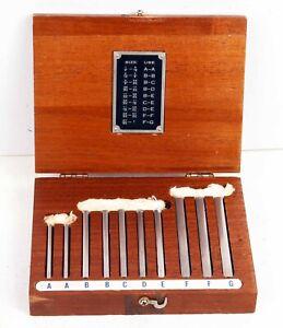 Brown & Sharpe Precision 10pc Angle Block Gauge A-G Set Orig. Wood Case