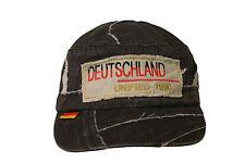 """DEUTSCHLAND GERMANY """"DEUTSCHLAND UNIFIED 1990"""" ON BRIM ACID WASHED HAT CAP"""