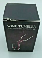 Stainless Steel Double Wall 12oz Wine Tumbler - New