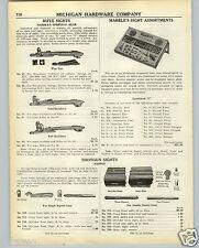 1938 PAPER AD Marbles Rifle Gun Sight Store Display Case Shotgun