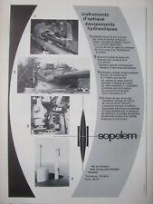 1/1973 PUB SOPELEM ARMEMENT NIGHT VISION OPTIQUE EPISCOPE PERISCOPE FRENCH AD