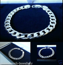 Men's 925  Sterling Silver Filled Plated 8mm Curb chain bracelet SPECIAL OFFER