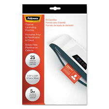 Fellowes Laminating Pouches 5mil 2 5/8 x 3 7/8 ID Size 25/Pack 52007