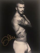 David Beckham Shirtless Signed Autographed 8x10 Color Photo