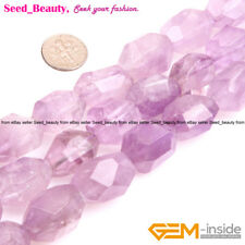 """17x25mm Freeform Faceted Purple Amethyst Beads for Jewelry Making Stone15"""""""