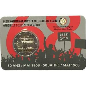 Belgio 2018 50 Ans Mai 1968 Coincard Côté Français