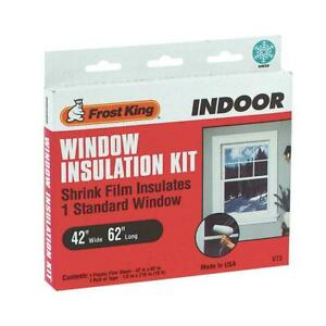 Frost King V73H Indoor Shrink Window Kit 42-Inch by 62-Inch, Clear SHIPS FREE