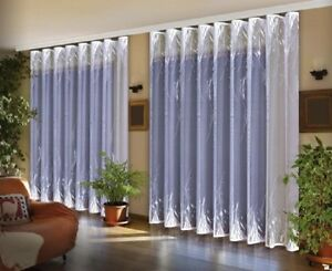 ELEGANT WHITE NET CURTAIN TWO DROPS SOLD BY METERS