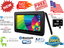 Azpen A743 7 Inch Tablet Quad Core Android 6.0 Marshmallow HD Media Streaming